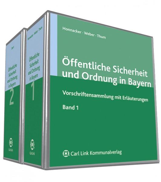 Öffentliche Sicherheit und Ordnung in Bayern (Band 1 und 2)
