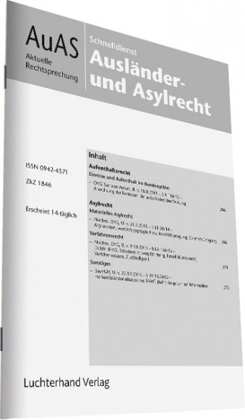 Schnelldienst AuAS - Ausländer- und Asylrecht