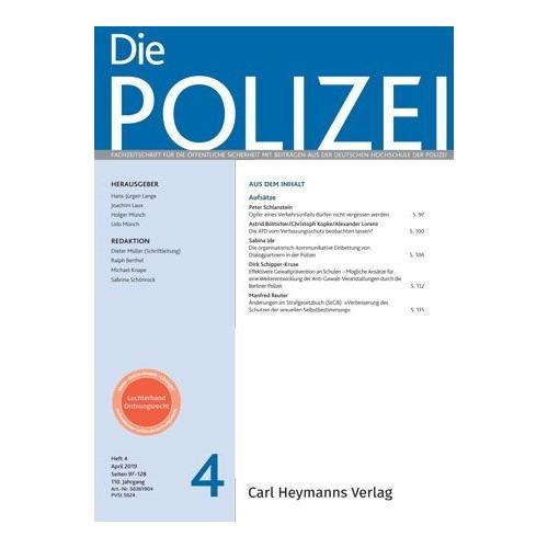 Die Polizei - Heft 4|2019