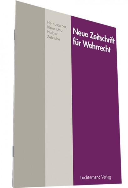 Neue Zeitschrift für Wehrrecht - Heft 4|2020