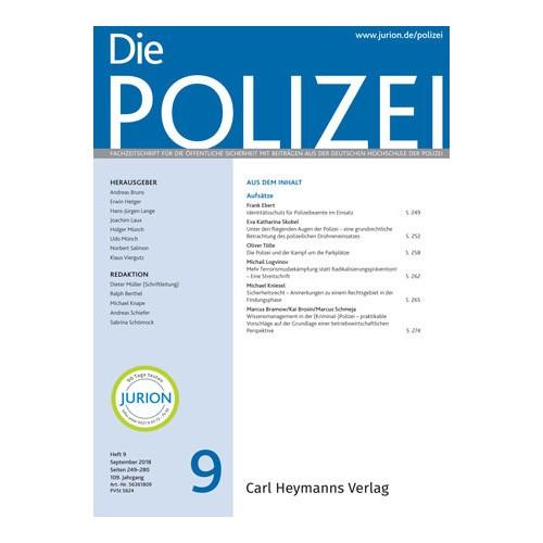 Die Polizei - Heft 9|2018
