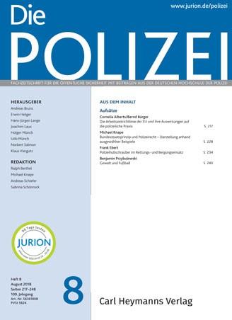 Die Polizei - Heft 8|2018