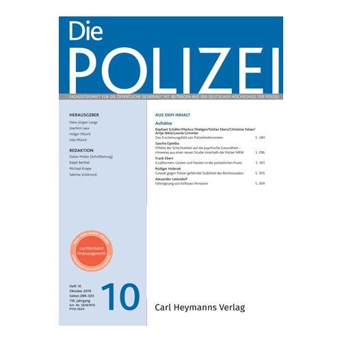 Die Polizei - Heft 10|2019