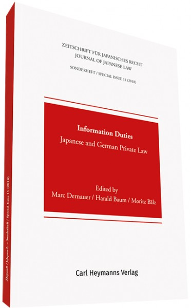 Information Duties. Japanese and German Private Law