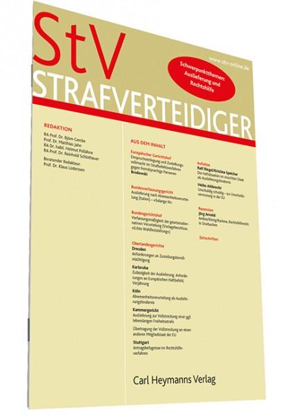 Strafverteidiger (StV) Elektronisches Archiv (Sonderpreis für Zeitschriftenbezieher)