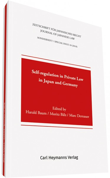 Self-regulation in Private Law in Japan and Germany