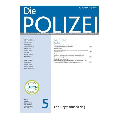 Die Polizei - Heft 5|2018